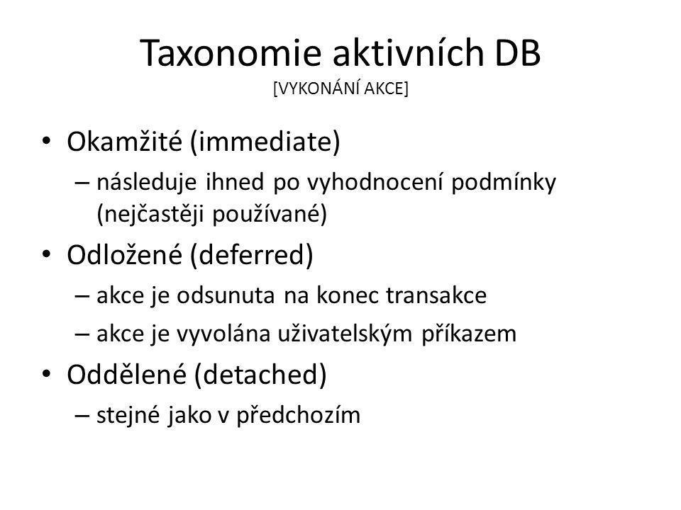 Taxonomie aktivních DB [VYKONÁNÍ AKCE]